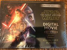 Star Wars The Force Awakens Limited Edition Digital Movie 3 Posters New Sealed
