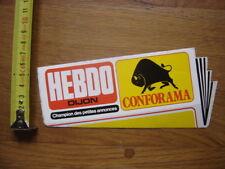 Autocollant Sticker HEBDO DIJON CONFORAMA champion des petites annonces