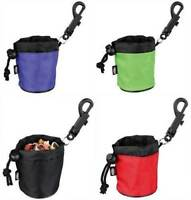 Mini Dog puppy treat snack bag with clip attachment for training 7 x 9cm
