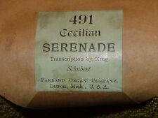 """Rare Cecillian Player Organ Roll """" Serenade """" <<< Look! >"""