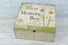 Mum Daisy Memory Box Keepsake Chest Memories Mothers Day Birthday Wooden  SG1335