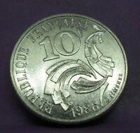 10 francs Jimenez 1986 - SPL - pièce de monnaie française - N14251