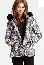 $148 Victoria's Secret VS Double Breasted Puffer Coat Jacket Hooded floral  (XS)