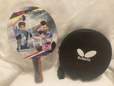 New Sealed Butterfly 303 Penhold Table Tennis Racket Paddle with Case NICE!