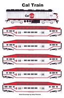 """CalTrain 11""""x17"""" Railroad Poster by Andy Fletcher signed"""