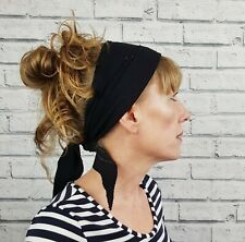 Handmade Non Slip Headscarf - Black