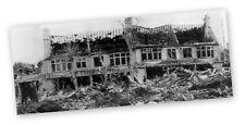 GERMAN FLYING BOMB KILLS SIX  SOUTH NORWOOD SURREY 1944  MOUNTED WAR PRINT