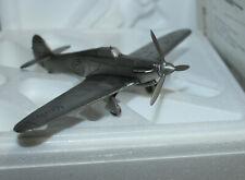 Danbury Mint Pewter Hawker Hurricane Air Plane Wwii Aircraft