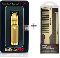 BaByliss PRO FX787G Gold FX Skeleton T-Blade Trimmer plus Matching Metal Combs