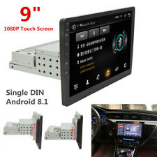 "Single DIN 9"" Touch Screen Android 8.1 Car Stereo Radio GPS WiFi w/ Rear Camera"