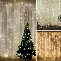 300 LED Fairy tende Luci terni / esterni Decorazioni giarni natalizi