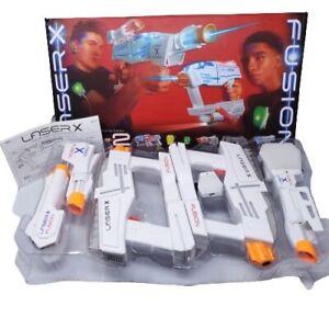 NEW !! LASER X FUSION 2 Players Up To 250' Range Game  Blaster Guns Sealed Box