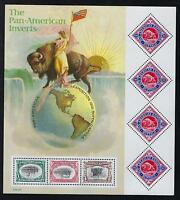 SCOTT 3505 2001 PAN AMERICAN INVERTS SOUVENIR SHEET MNH OG VF CAT $10!