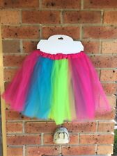 Girls Rainbow Tutu Skirt Dress Up Party Ballet Dancing Costume
