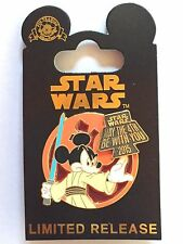 NEW Disney Star Wars Weekends 2015 May the Fourth Jedi Mickey Pin May 4th