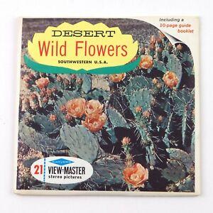 Vintage View-Master Reels Set Packet B629 DESERT WILD FLOWERS Southwestern USA