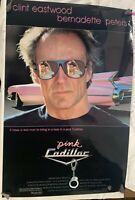 Vintage 80s Original Movie Ad Pink Cadillac 27x40 Poster One Sheet