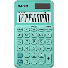 NEW 2019 Casio SL310UC-GN Handheld Pocket Calc.│10 Digit│TAX│2-WAY POWER│GREEN
