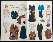1952, Mrs. Barry and John, Journey Friends Series Paper Doll,Jack & Jill Mag