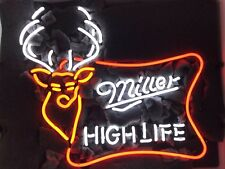 "New Miller High Life Deer Bar Beer Neon Sign 20""x16"""