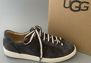UGG Australia MILO Suede Lace Up Sneaker Shoe #1094810 US7 $110 Charcoal NEW
