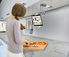 Kitchen Under Cabinet Mount Holder Stand Counter iPad Tablets Mobile Show Rotate