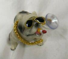 Car Dog Bully Pitbull Decoration Dashboard Home Decor Ornament Doll Mini Head