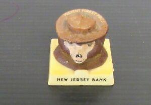 Vintage Smokey The Bear Advertising Snuffit Ashtray Car Dashboard NJ Bank