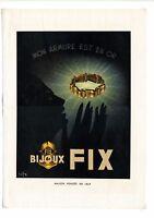 Ancienne publicité des années 40 des bijoux FIX en or  ~ 27x37 cm ~ FRFN152
