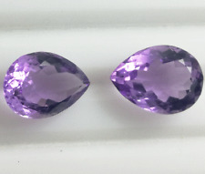 14x9mm Natural Pear Shape Violet Amethyst Pair Loose Gemstone For Earring Use