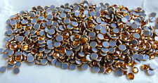 SALE - 100 Swarovski SS20 or 5mm Gold Rimmed TOPAZ Hotfix Crystals