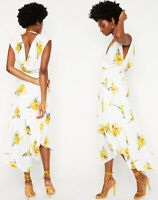 Warehouse New Cowl Back Floral Midi Dress in Multi Sizes 6 to 18