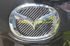 FOR 05~15 Mazda 5 Rear Trunk Emblem Logo Black Carbon Fiber Filler Decal CX-7