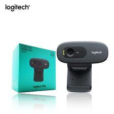 NEW Sealed Logitech C270 HD Webcam 720p 3.0mp Photo Black Home Office Zoom Work