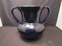 Studio Pottery Vase Southern Handled Blue Unknown Artist