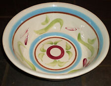 """RRP Co. (Robinson Rainsbottom) Roseville, OH – Large Rustic Ware 12"""" Bowl"""