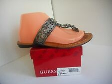 Guess Gaiana Womens Faux Leather Thongs Sandals Shoes sz 8 M