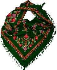 Dreieckstuch handbestickt  100% Wolle wool  Kashmir triangular stole bestickt