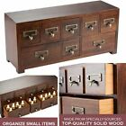 8 Drawers Wood Apothecary Medicine Cabinet Label Holder Organizer Card Catalog