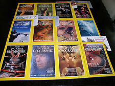 12 NATIONAL GEOGRAPHIC MAGAZINE COMPLETE SET 1998 ~ INCLUDES ALL SUPPLEMENTS