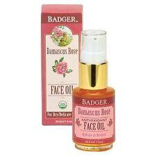 Badger Delicate Skin Face Oil, Damascus Rose, 1 fl oz