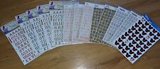 Large Lot of Alphabet Scrapbooking Stickers Brush Letters Reminisce Disney
