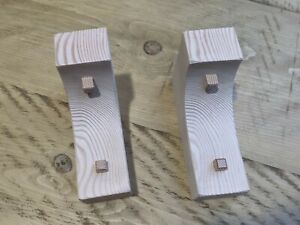 Wooden Corbels (Shelf Brackets) solid pine arched and peg style (1 pair)