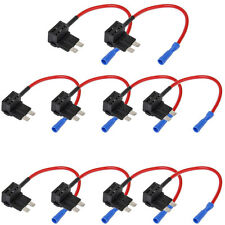 10 X 12V Car Standard Add A Circuit Fuse Tap Piggy Blade Holder Socket Plug WYS