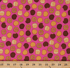 Girl Scout Cookies Thin Mints Food Pink Cotton Fabric Print by the Yard D482.08