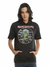 Iron Maiden Short Sleeved Hoodie sleeve killers new with tags Size Extra Large