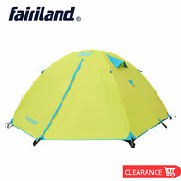 Portable Easy Set Up 4 Persons Double Layer Waterproof Backpacking Camping Tent