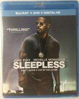 Sleepless (Blu-ray + DVD, 2017) Jamie Foxx, Michelle Monaghan BRAND NEW & SEALED