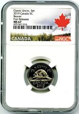 2019 CANADA 5 CENT CLASSIC NICKEL NGC MS67 FIRST RELEASES RARE