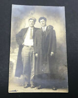 Antique Postcard Friends / Brothers Real Photo Post Card RPPC AZO 1911